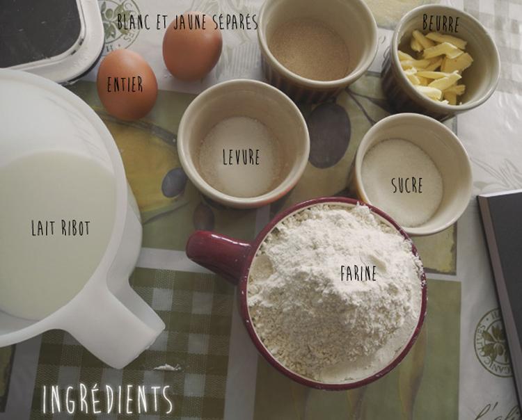 Ingrédients-pâte